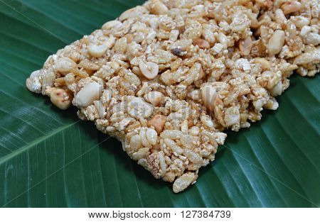 sweet made of rice nut sesame for Thai merit day