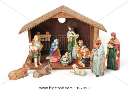 Complete Nativity With Stable
