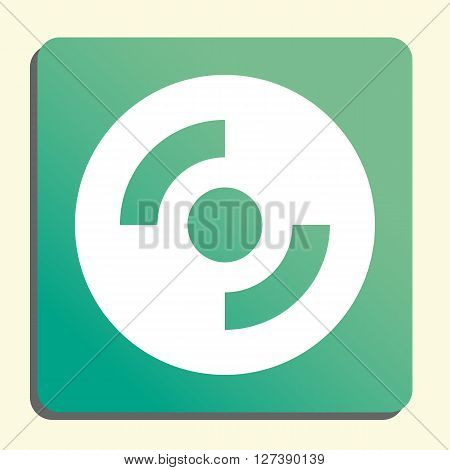 Cd-rom Icon In Vector Format. Premium Quality Cd-rom Symbol. Web Graphic Cd-rom Sign On Green Light