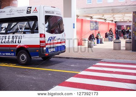 VENEZIA AIRPORT ITALY - MARCH 20: View of van passenger in the Marco Polo airport on March 20 2016
