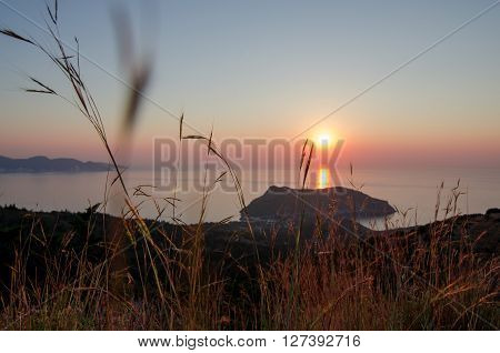 Greece. Ionian Islands - Cephalonia Kefalonia. Asos island sunset
