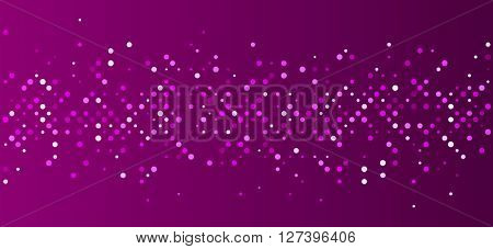 Violet abstract background with dots. Vector paper illustration.