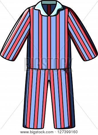 Pyjamas doodle vector .EPS10 editable vector illustration design