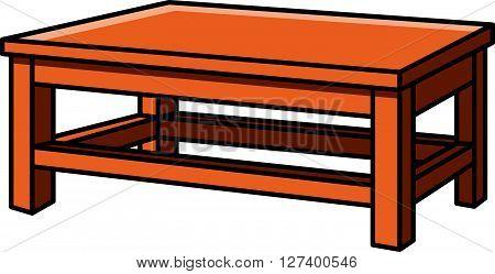 Dinning table vector cartoon illustration .eps10 editable vector illustration design