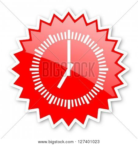 time red tag, sticker, label, star, stamp, banner, advertising, badge, emblem, web icon