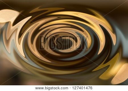 Wonderful Twist Or Curve Brown And Gold Millennium Abstract Background
