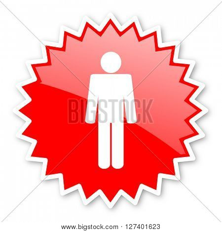 male red tag, sticker, label, star, stamp, banner, advertising, badge, emblem, web icon