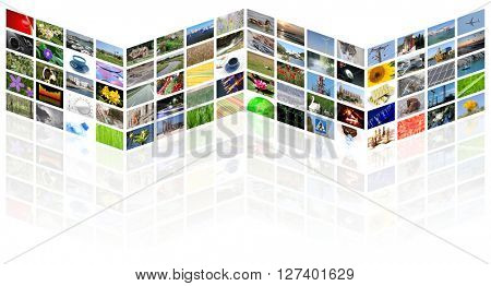 tv news media internet digital background