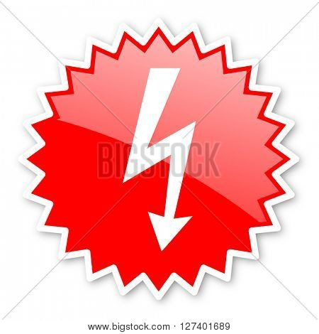 bolt red tag, sticker, label, star, stamp, banner, advertising, badge, emblem, web icon