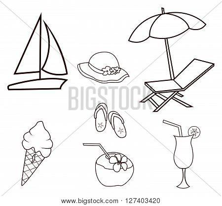 Summer Beach .eps10 editable vector illustration design