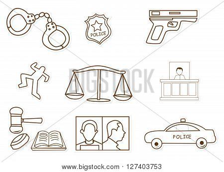 Security Police .eps10 editable vector illustration design