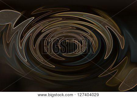 Wonderful Twist Or Wave Line Brown And Gold Millennium On Dark Background