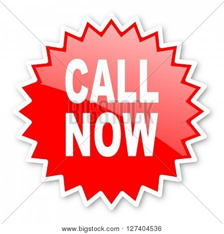 call now red tag, sticker, label, star, stamp, banner, advertising, badge, emblem, web icon
