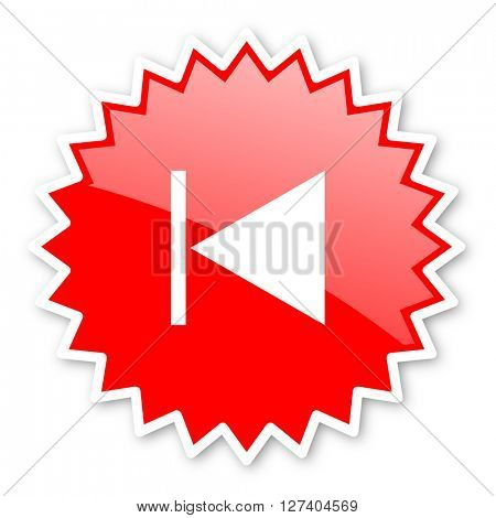 prev red tag, sticker, label, star, stamp, banner, advertising, badge, emblem, web icon