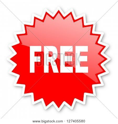 free red tag, sticker, label, star, stamp, banner, advertising, badge, emblem, web icon