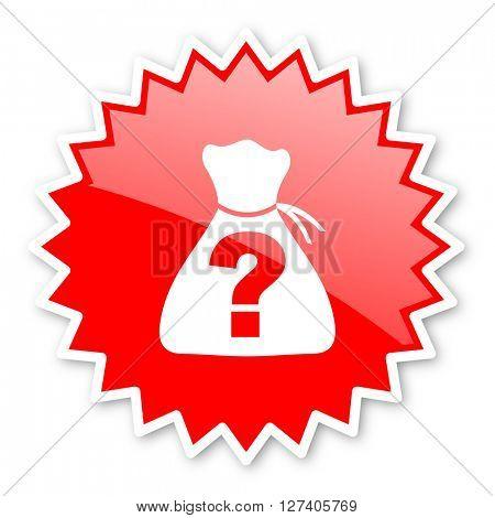 riddle red tag, sticker, label, star, stamp, banner, advertising, badge, emblem, web icon
