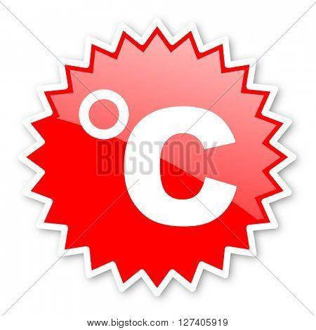 celsius red tag, sticker, label, star, stamp, banner, advertising, badge, emblem, web icon