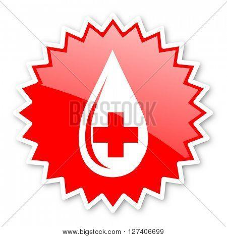 blood red tag, sticker, label, star, stamp, banner, advertising, badge, emblem, web icon
