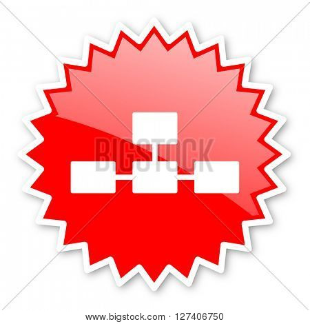database red tag, sticker, label, star, stamp, banner, advertising, badge, emblem, web icon