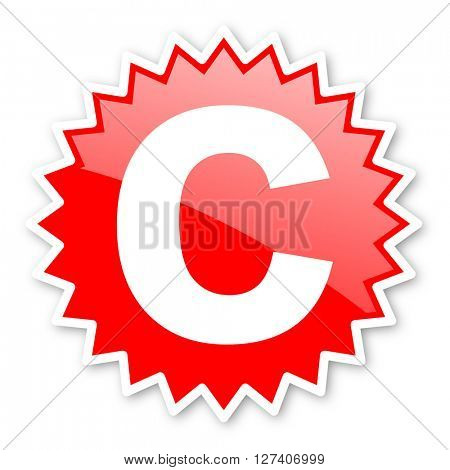 copyright red tag, sticker, label, star, stamp, banner, advertising, badge, emblem, web icon