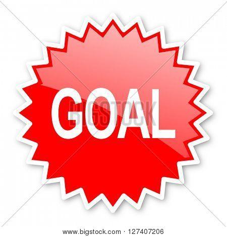 goal red tag, sticker, label, star, stamp, banner, advertising, badge, emblem, web icon