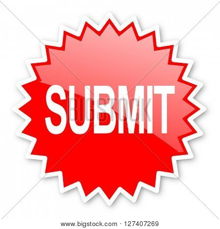 submit red tag, sticker, label, star, stamp, banner, advertising, badge, emblem, web icon