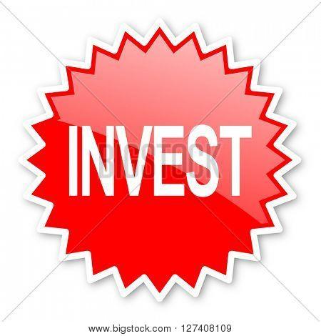 nvest red tag, sticker, label, star, stamp, banner, advertising, badge, emblem, web icon