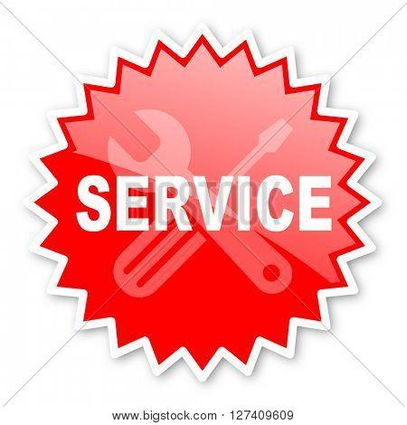 service red tag, sticker, label, star, stamp, banner, advertising, badge, emblem, web icon