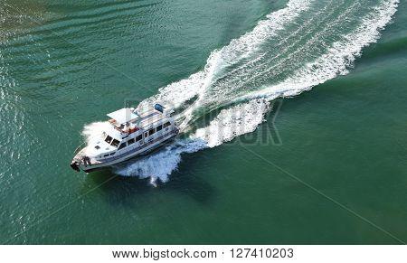 Cruise boat on sea