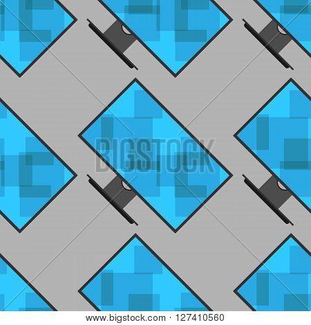Monitor pattern seamless. Vector illustration. Blue screen