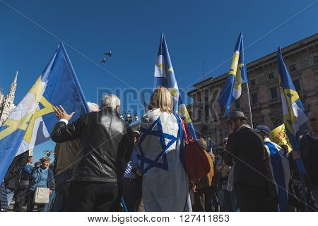 The Jewish Brigade At The Liberation Day Parade 2016 In Milan, Italy