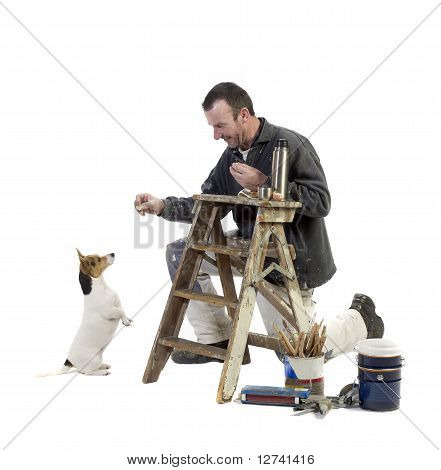Painter And Doggy