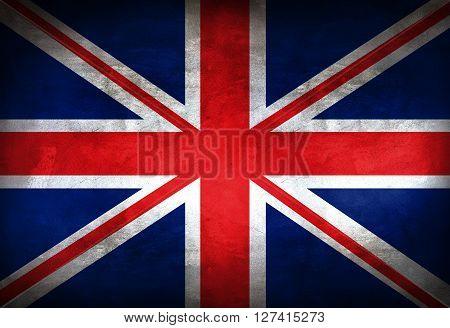 British flag paited on the wall. UK flag background