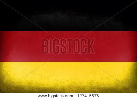 German flag painted on the wall. German flag background
