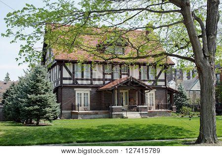 English Tudor House in Spring