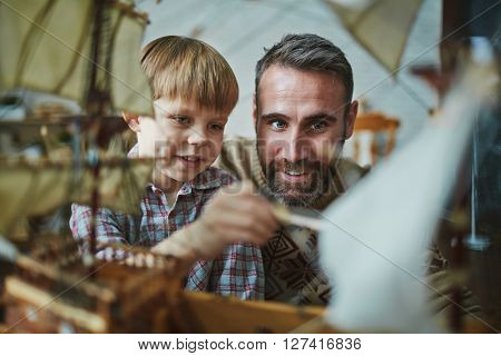 Boy and his father