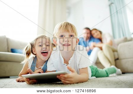Kids with touchpad