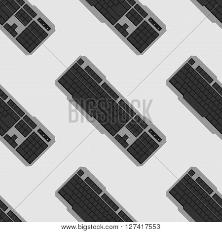 Keyboard seamless pattern. element for electronics store packaging