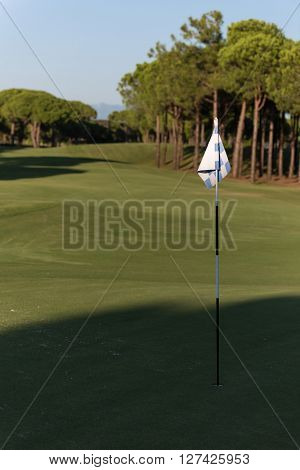 golf course landscape at beautiful fresh morning  sunrise