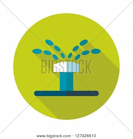 Water sprinkler irrigation flat vector icon outline isolated garden eps 10 poster