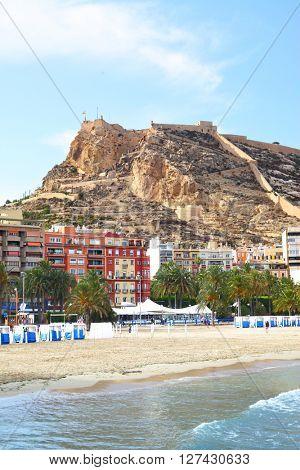 View of Alicante, Costa blanca, Spain