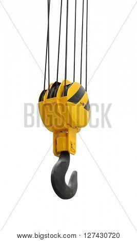 The big lifting hook isolated on white background