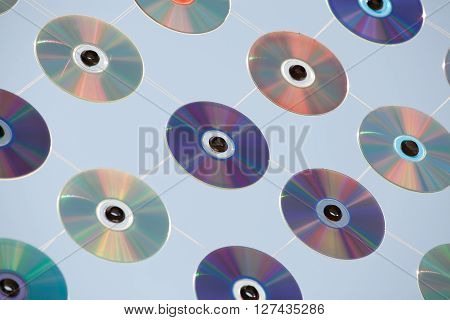 Net of old CDs and DVDs. Technology background