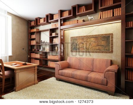 Private Office In Ancient Greek Style