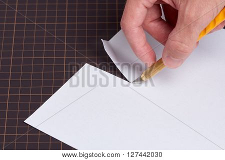 Cutting Paper With Utility Knife