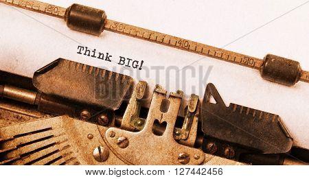 Vintage Typewriter - Tink Big