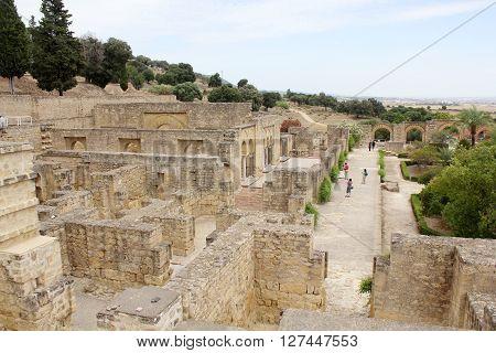 Overview of Madinat Al-Zahra in Cordoba - Spain.