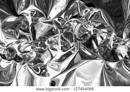 Reflective Foil Abstract Background