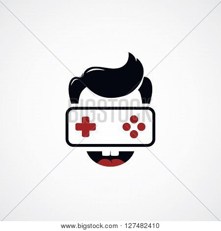 Game Freak Video Game Joystick Logotype