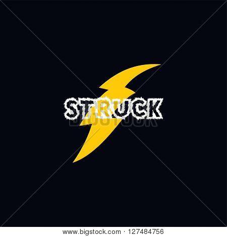flash thunder bolt logo theme vector art illustration